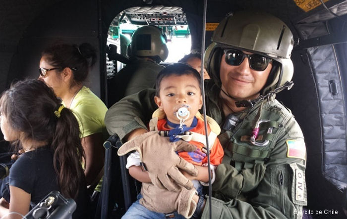 Chilean Army Aviation Brigade Made 56 Missions In the Flooded North