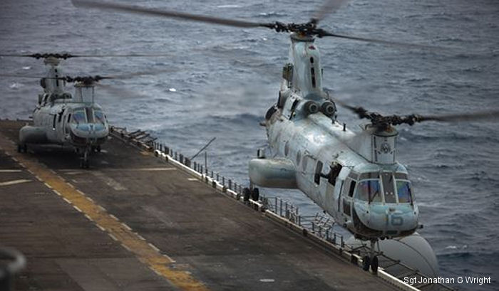 HMM-262 was stationed at Hawaii between 1971 and 1992 when they moved to Japan. They were redesignated VMM-262 in 2013 after transitioned to the Osprey tilt-rotor