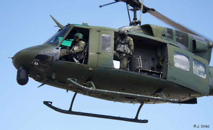20th Air Force's  37th, 40th and 54th Helicopter Rescue Squadrons equipped with Bell UH-1N are competing in the 2015 GSC at Camp Guernsey, Wyoming