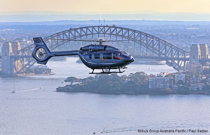The H145/EC145T2 arrived in Brisbane at the weekend, having completed the Sydney component of its month-long Australia visit as part of a global tour.