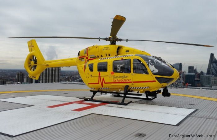 UK first H145 saves lives with East Anglia Air Ambulance