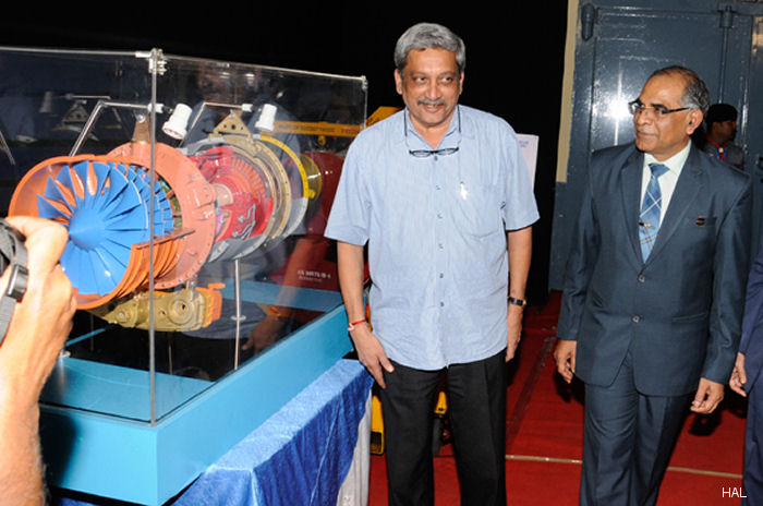Defence Minister Watches Successful Run of Indigenous 25 kN Aero Engine at HAL