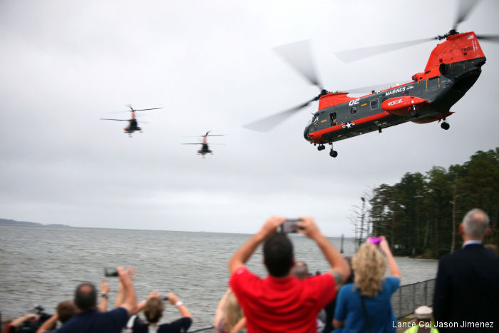 "The three remaining HH-46E search and rescue models, commonly known as ""Pedro"" assigned to Marine Transport Squadron 1, the last DoD Sea Knights, will retire from service on Sept.29"