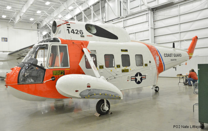 U.S Coast Guard HH-52A Seaguard  tail number 1426 will join the Smithsonian Air and Space Collection on permanent display at the Udvar-Hazy Center in Chantilly, Virginia