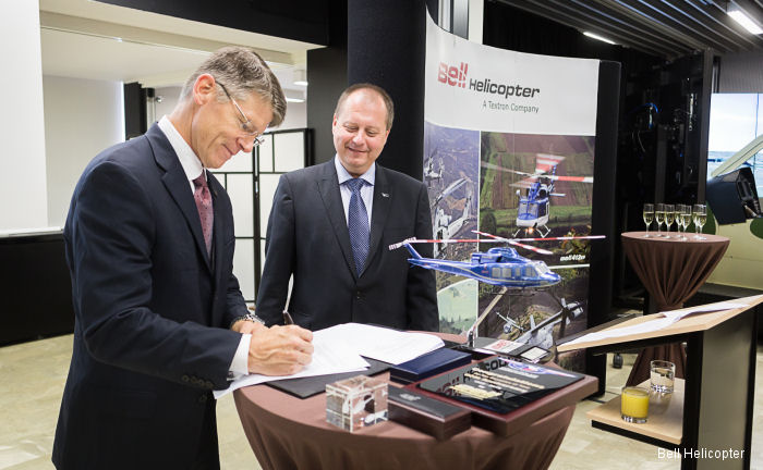 LOM PRAHA and Bell Helicopter sign Memorandum of Understanding for service and support of Bell Helicopter military aircraft