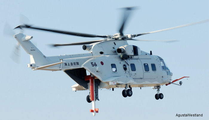 AgustaWestland and Kawasaki Heavy Industries (KHI) announce the delivery of the first Airborne Mine Counter Measures (AMCM) equipped MCH-101 helicopter to the Japan Maritime Self Defense Force.