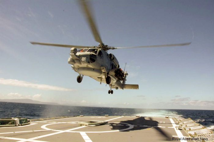 The Royal Australian Navy's first Seahawk MH-60R 'Romeo' has successfully completed the final deck landing on HMAS Perth at the end of a rigorous period of First of Class Flight Trials.