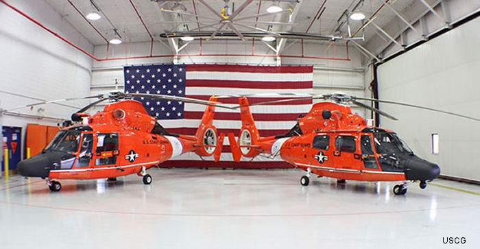 The US Coast Guard delivered its 93rd upgraded MH-65D Dolphin short range recovery helicopter to Air Station Detroit May 8, 2015. Now, all air stations with SRR helicopters have the upgraded MH-65D