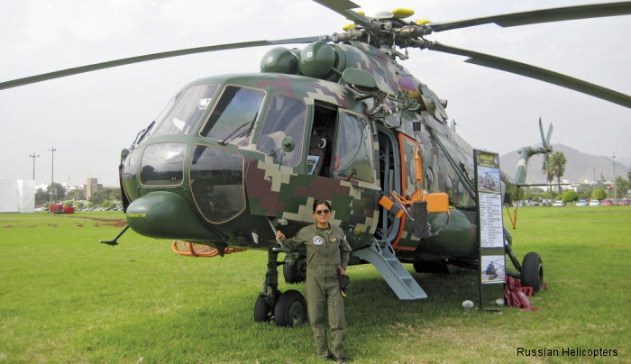 We talked with the only Mi-171Sh female helicopter pilot in the Peruvian Army about her choice of career path and the complex and risky profession of being a pilot.