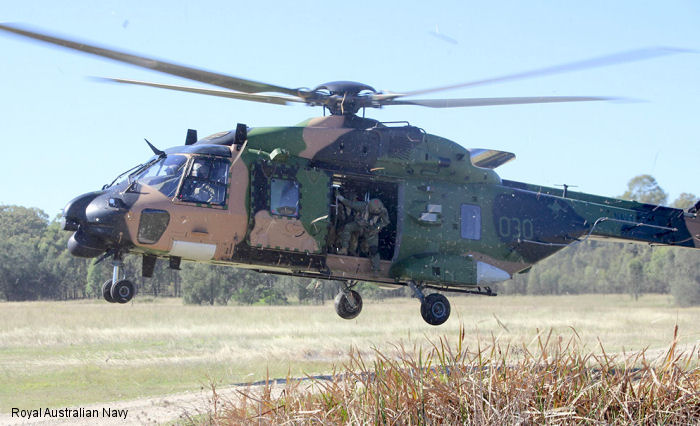Army get on board with lift from Navy helicopters