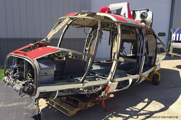 Only The Bones Remain; The Parting Out Of Two SA365N Dauphin Helicopters Is Complete