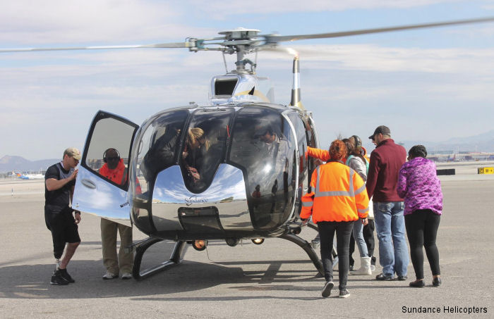 Sundance Helicopters created a memorable Veterans Day week for more than 75 wounded service members by taking them on a helicopter tour of the Las Vegas Strip