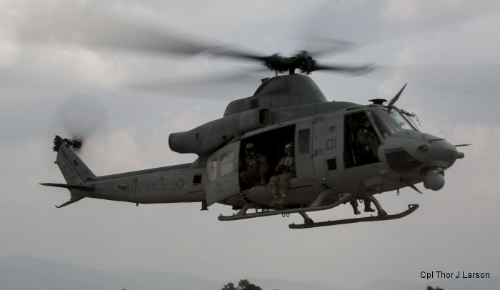 An US Marine Corps UH-1Y helicopter assigned to HMLA-469 squadron went missing on May 12. Wreckage found on May 15