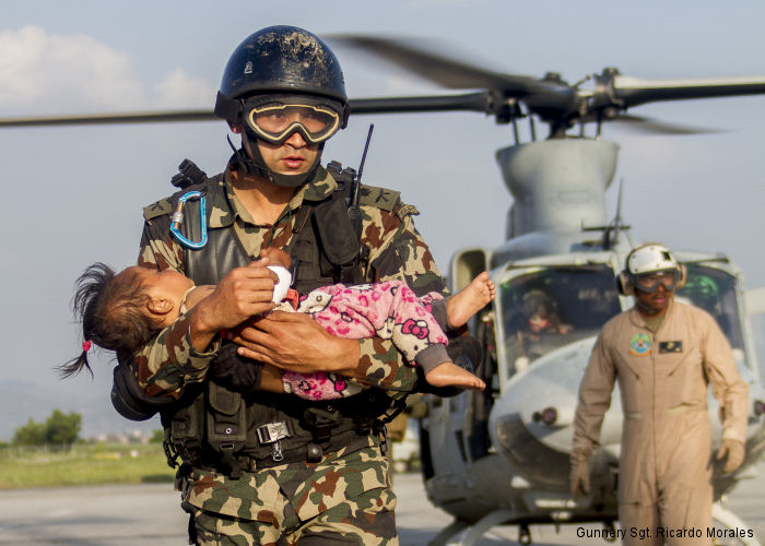 U.S. Joint Task Force 505 (JTF 505) Operation Sahayogi Haat (Helping Hand) was sent for relief operations following the 7.8 magnitude earthquake struck the country April 25.