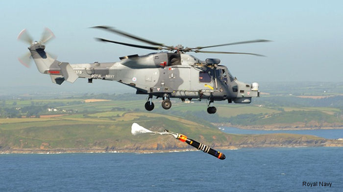 A Royal Navy Wildcat of 825 Naval Air Squadron spent two days over Falmouth Bay practising torpedo attacks, culminating in the launch of a dummy weapon.