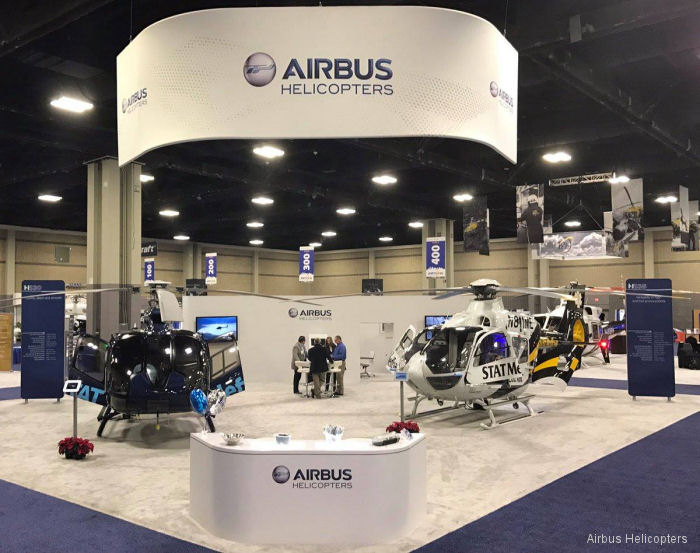 Airbus H130 and H135 featured at the Air Medical Transport Conference (AMTC) Dec. 13/15 at the Charlotte Convention Center, NC. The event was postponed last September due violent riots