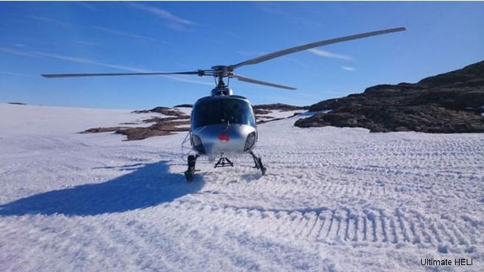 South African company Ultimate Heli uses one AS350 helicopter for scientific research in Antarctica between December and April