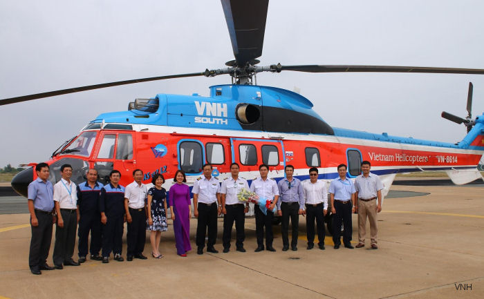 Vietnam's VNH South AS332L2 returned to Vung Tau after completion of its overhaul at Airbus Helicopter Malaysia's MRO facility in Subang