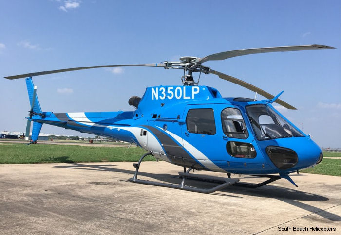 South Beach Helicopters, which provides charter flights and aerial tours of the South Florida beach region, adds an AS350B2 AStar helicopter to its fleet