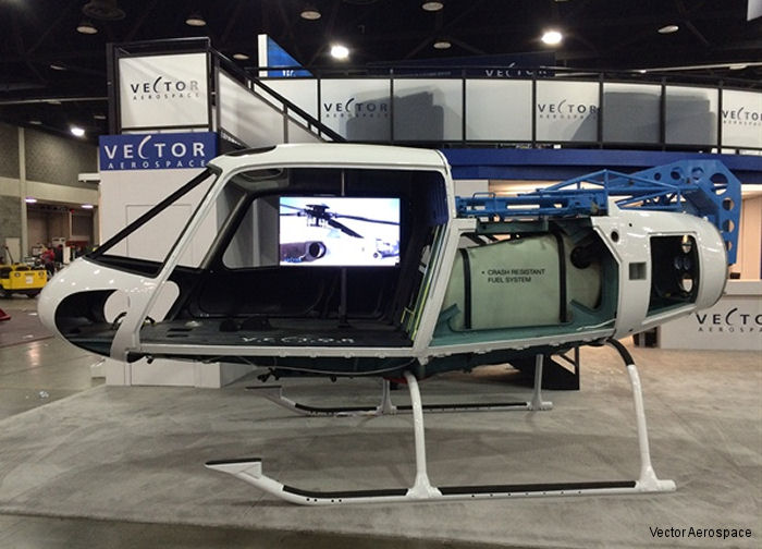 Vector Aerospace displaying at Heli-Expo a newly developed crash-resistant fuel tank retrofit solution for the AS350 and EC130 helicopters