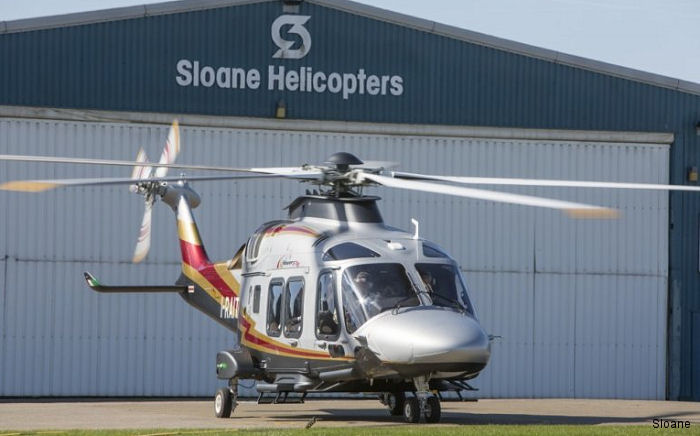 UK's Sloane Helicopters,  a Leonardo authorized service center,  added the AW169 to its Part 145 maintenance approval for both line and base maintenance