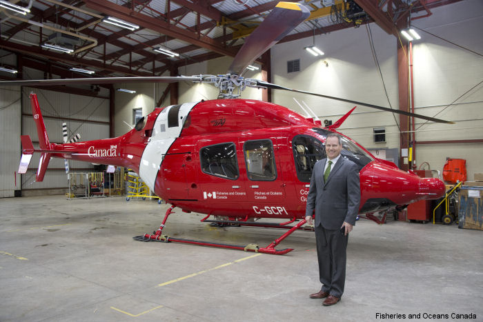 Canadian Coast Guard Accepts New Light-Lift Helicopter in Shearwater, Nova Scotia