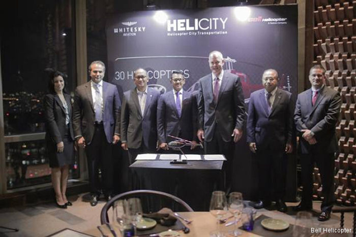 Bell Helicopter and PT Whitesky Aviation sign Letter of Intent for 30 Bell 505 Jet Ranger X Helicopters