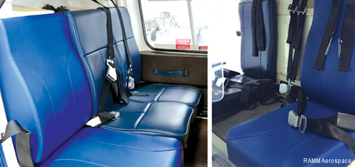 RAMM Aerospace is now offering Frameless Seat Cushions for the Bell 206/407 aircraft.