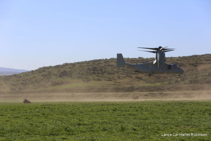 Marines Osprey Tilt-Rotor Can Support Cal Fire