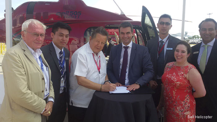VIP Jets Ltd. Signs for first Bell Helicopter in Cambodia