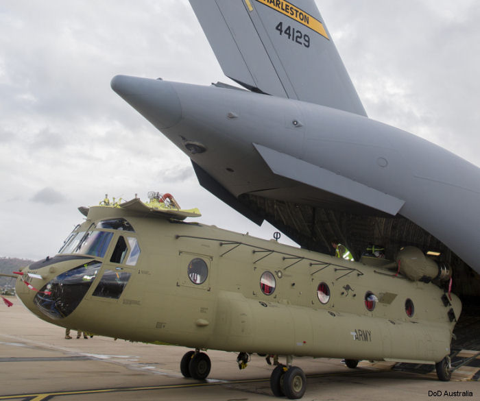 Australia received 3 additional CH-47F Chinooks two and half months ahead of schedule. Australian Army now operates 10 helicopters of this model