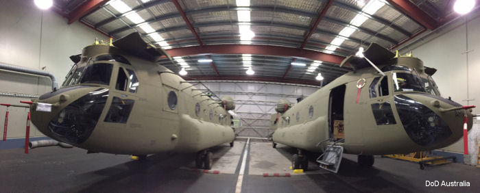 The new CH-47F Chinooks came straight off the Boeing production line via USAF C-17 cargo aicraft