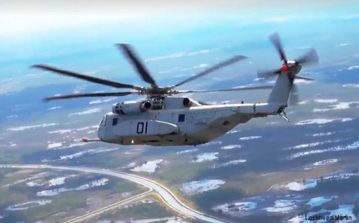 The CH-53K King Stallion prototype helicopter achieved a 170 knot flight