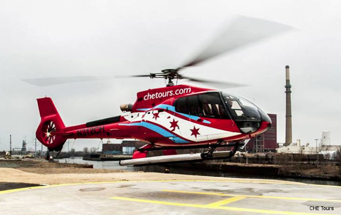 Chicago Helicopter Experience (CHE) acquired a new H130 helicopter for city tours which will be unveiled and conduct its inaugural flight July 14, 2016