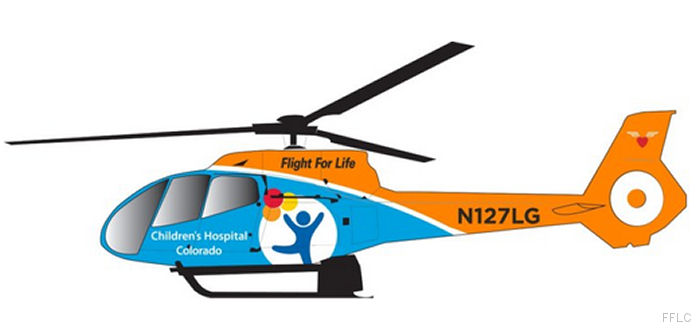 Flight For Life Colorado adding an Air Methods H130 / EC130T2 air ambulance helicopter for the Children's Hospital Colorado
