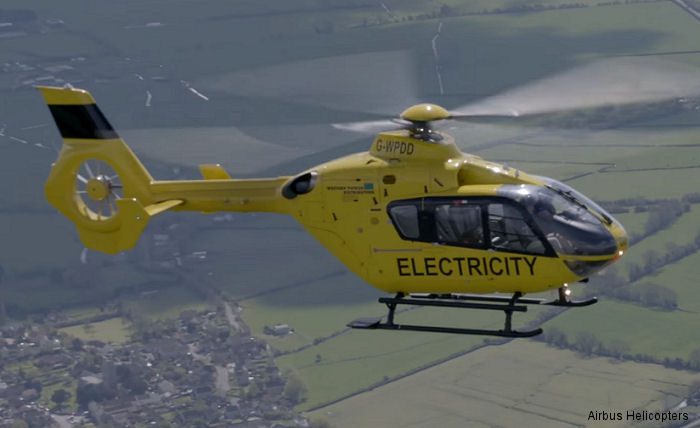 H135 flying the line with Western Power Distribution