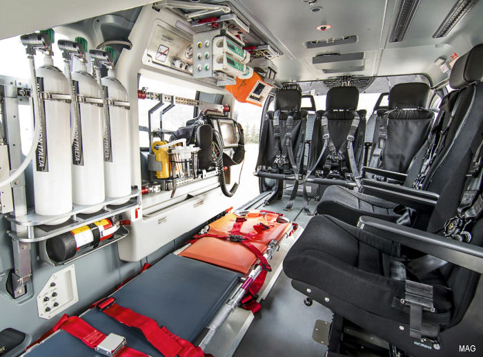 Mecaer Aviation Group Announces FAA STC for Air Medical Interior