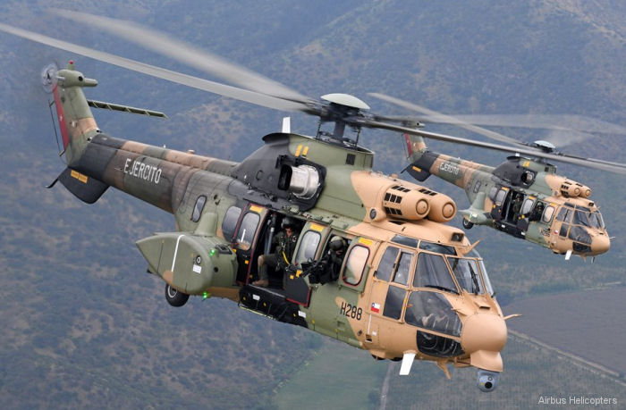 Chilean Army received tenth AS532AL / H215M Cougar ending program that began in 2008 with the purchase of eight helicopters, with two more added in 2013 and 2014. Already surpassed 10,000 flight hours