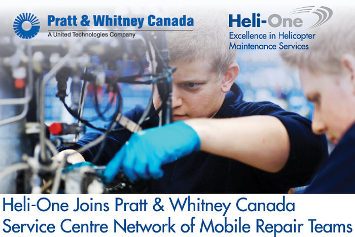 Heli-One Joins Pratt & Whitney Canada Service Centre Network of MRTs