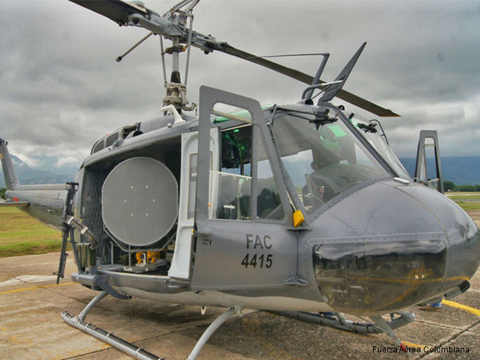 Colombian Air Force Increases Mission Capability with Acceptance of Seventh Bell Helicopter Huey II Kit