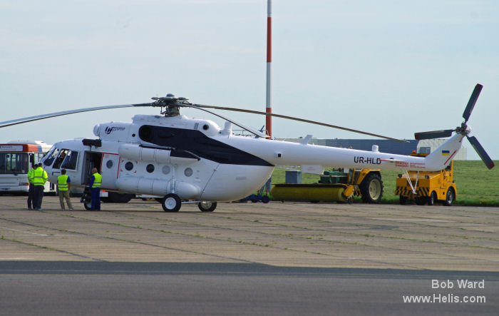 The Mi-8MTV-1 at Norwich en route to the Farnborough air show