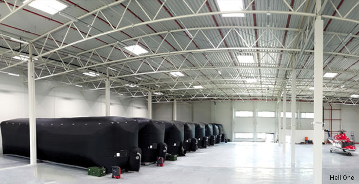 "CHC MRO provider Heli-One expanded its Poland's facility, wich opened in 2014, by 6,000+ m² to accommodate helicopter storage for up to 40 ""heavy"" aircraft"