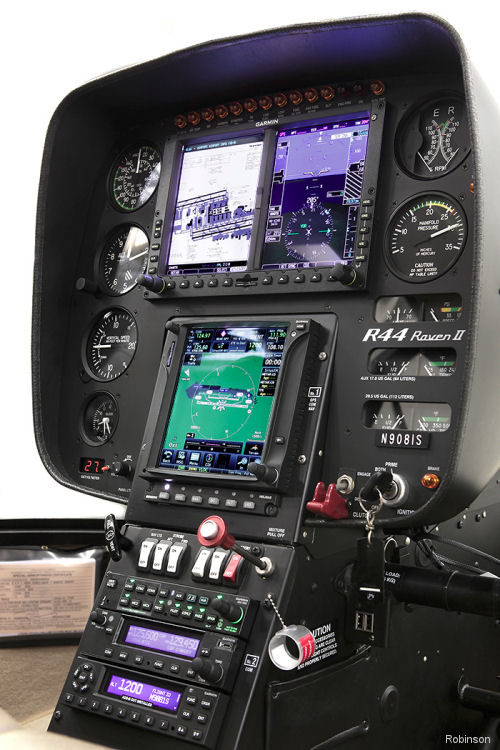 Robinson R44 Raven II and Cadet Now Available with Garmin G500H