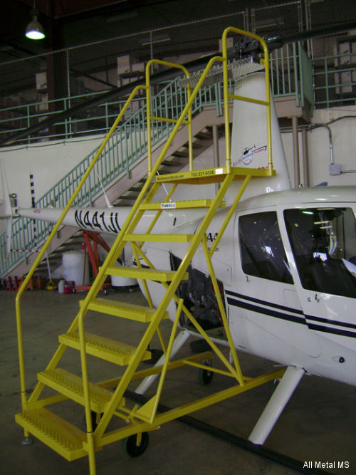 "All Metal MS announced the unveiling of its ""Safety First"" Robinson R22, R44, R66 Maintenance Stand which was delivered to 702 Helicopters located in Las Vegas."
