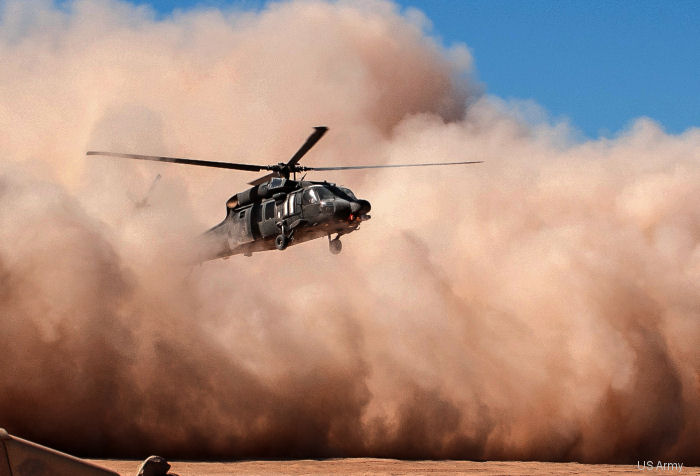 Helicopters already have filtration systems that attempt to filter out larger particles but the micron-sized  can pass through. Army researchers are searching for a sandphobic coating