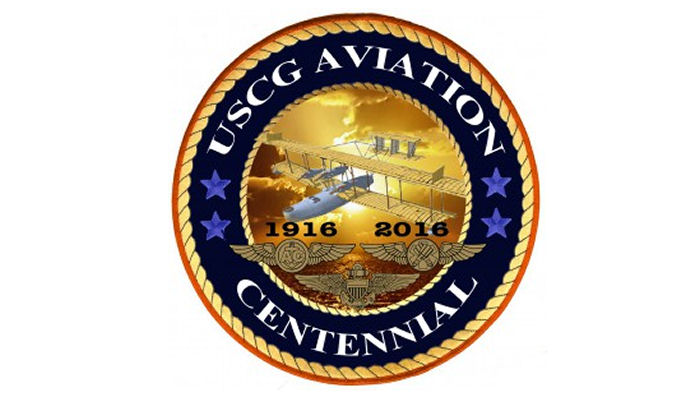 Logo for the 100th anniversary of Coast Guard aviation. USCG illustration by Seaman Kent Moore