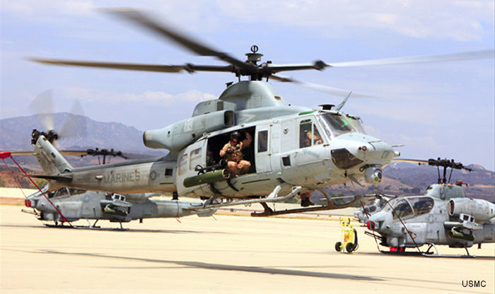 U.S. Marines to receive additional 12 UH-1Y Venom utility helicopters and 16 AH-1Z Viper attack helicopters and the associated auxiliary fuel kits in a $461.1 million contract