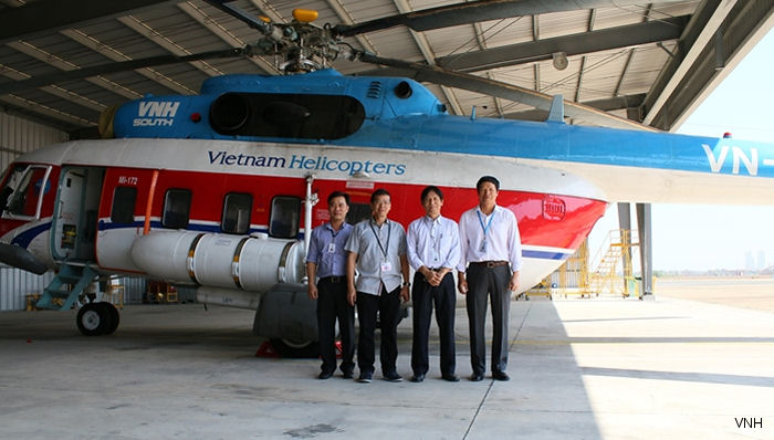 VNH South Signed a Wet Lease Contract of Two Mi-172 Helicopters In Indonesia