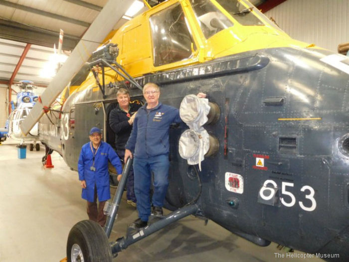 Wessex helicopter restoration goes on display