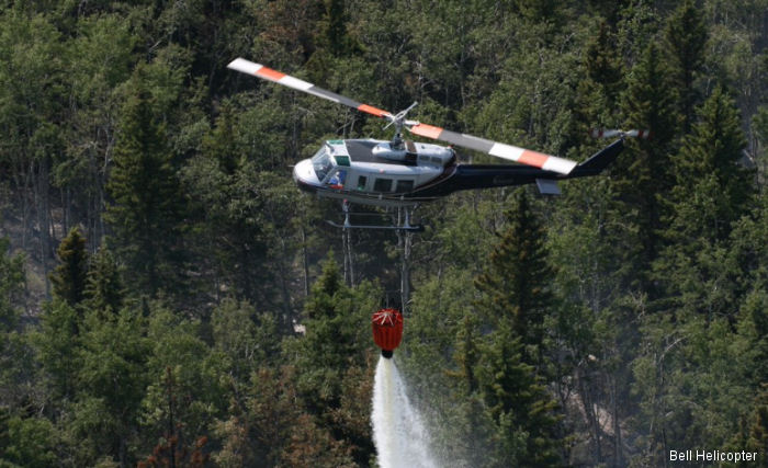 Mustang Helicopters and Helicopter Transport Services joined the relief efforts in Alberta, Canada following the wildfire outbreak